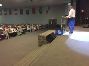 Joel preaching